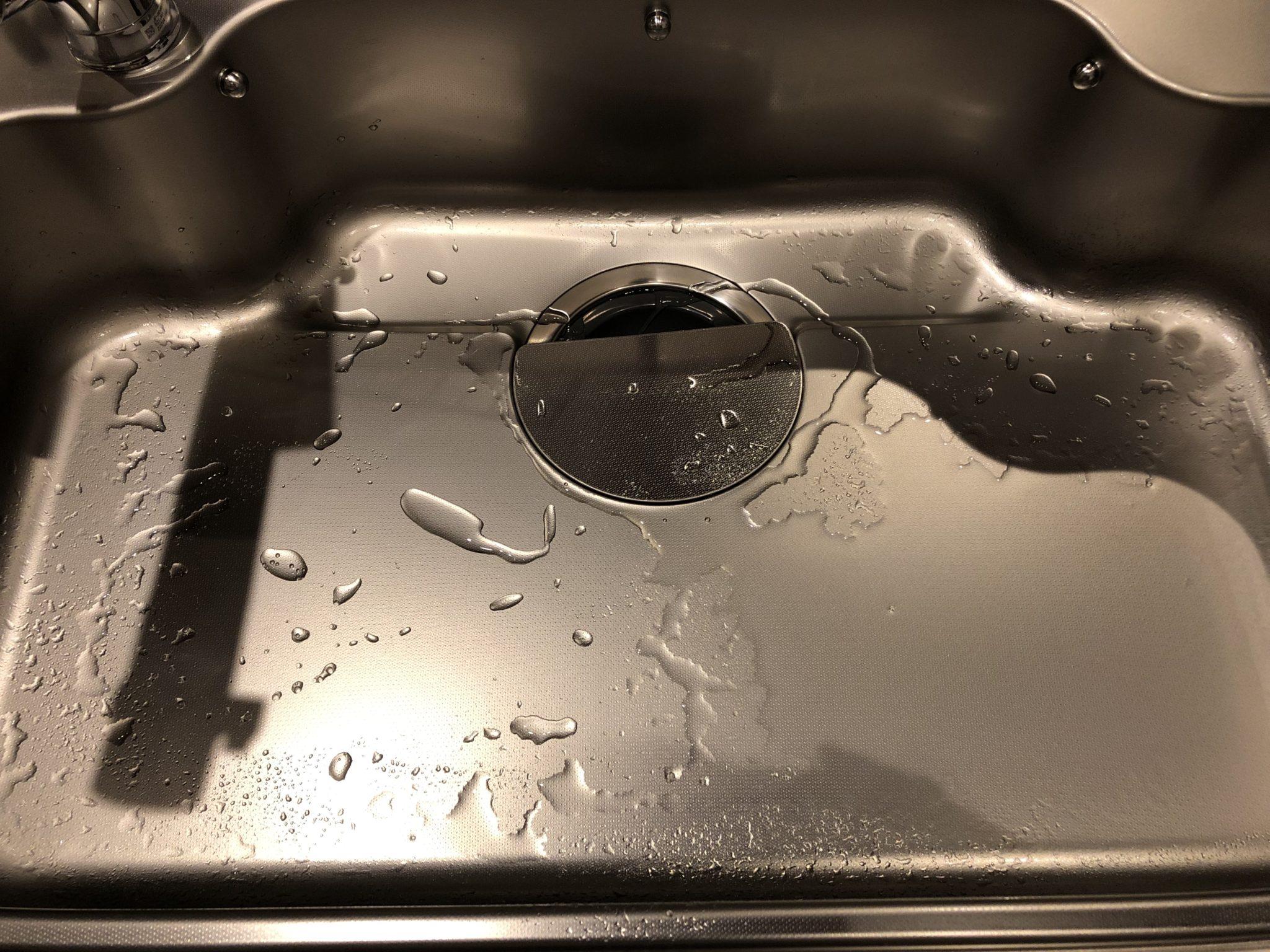 掃除後 撥水効果あり