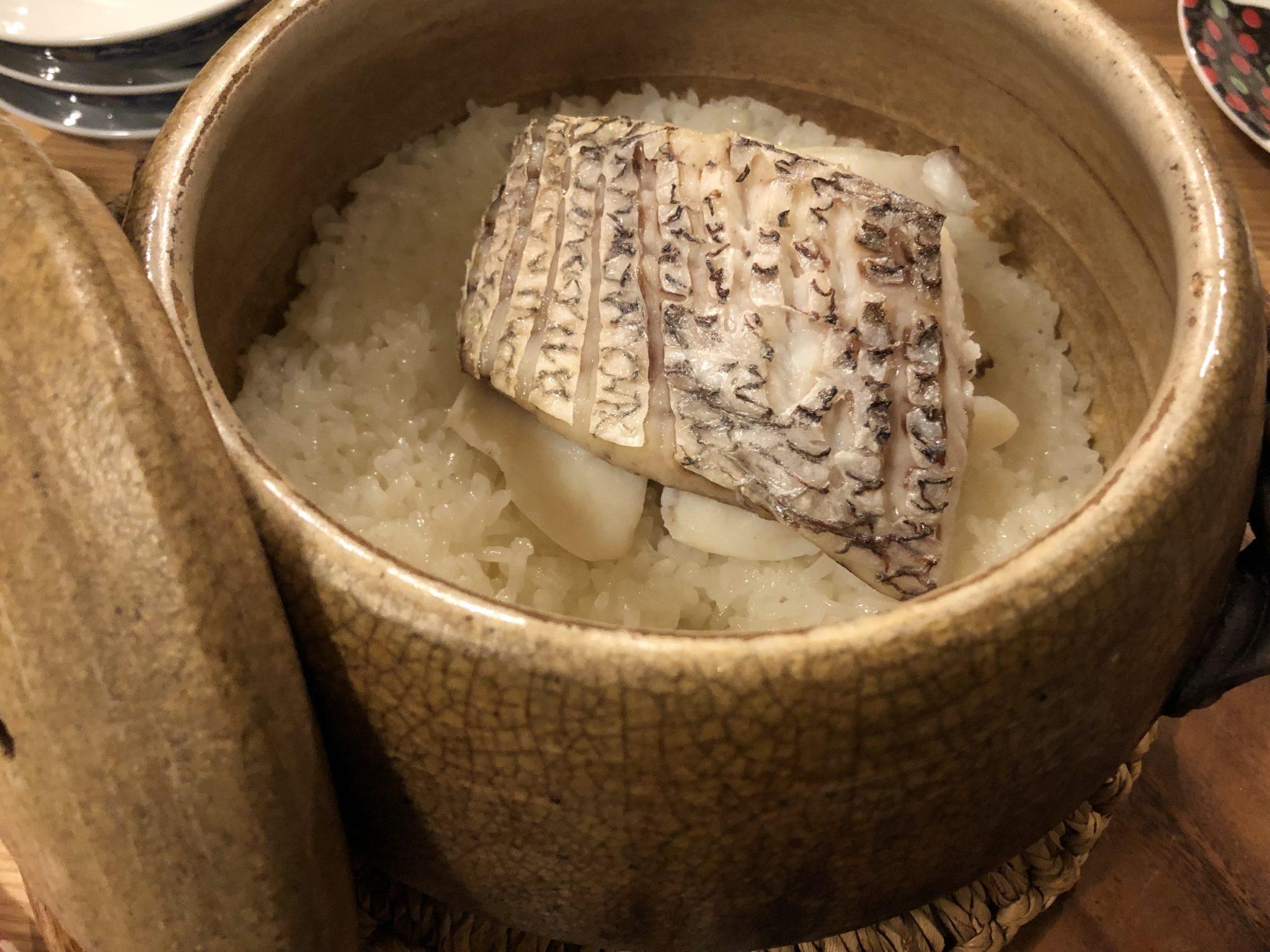 土鍋ご飯 鯛飯
